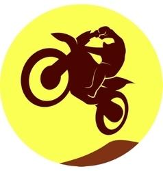Motocross sign vector