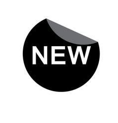 new sticker icon on white background new sticker vector image