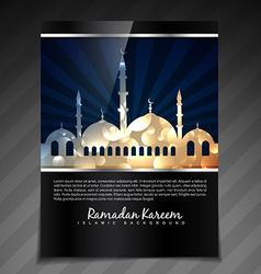 shiny islamic festival vector image vector image