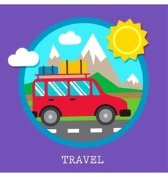 Travel car vector
