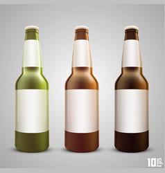 beer bottle set color vector image