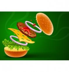Hamburger with cheese vector