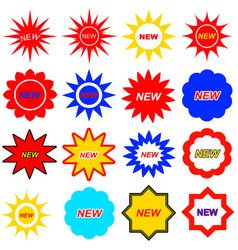 new icons set vector image vector image