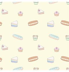 Seamless pattern of dessert vector image vector image
