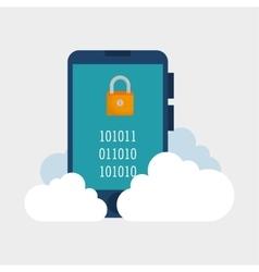 cloud computing smartphone password lock vector image