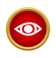 Eye icon simple style vector image vector image