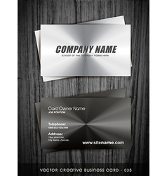 metallic business card vector image vector image