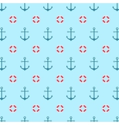 Seamless pattern with a lifeline and anchor vector image vector image