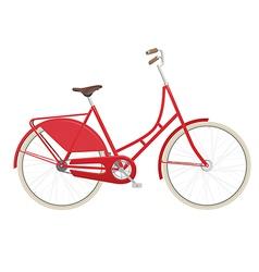 Vintage ladies bicycle vector image vector image