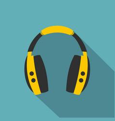 wireless headphones icon flat style vector image vector image