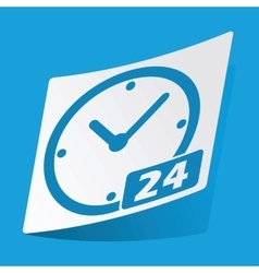 24 hours sticker vector image