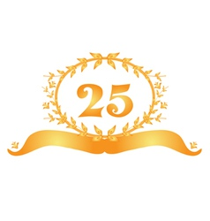 25th anniversary banner vector