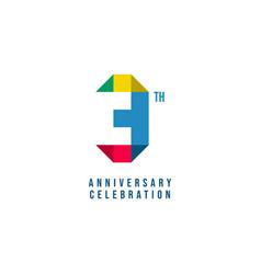 3 th anniversary celebration template design vector