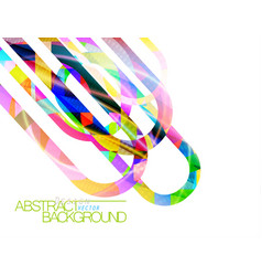 Abstract colors concave scene vector
