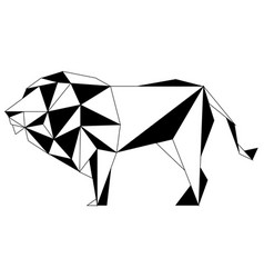 Abstract low poly lion icon vector