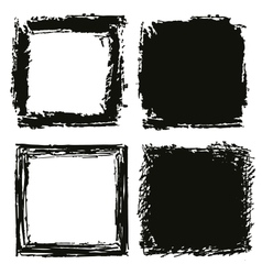 Black grungy background and frame vector