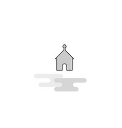 church web icon flat line filled gray icon vector image