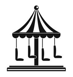 circus carousel icon simple style vector image