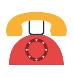 colorful old phone graphic vector image