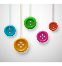 Colorful sewing buttons vector