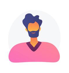 Company employee id photo concept metaphor vector