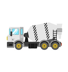 Construction cement mixer truck Building concrete vector image
