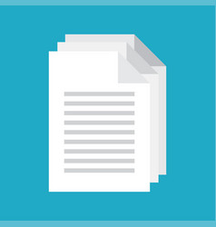 document icon vector image