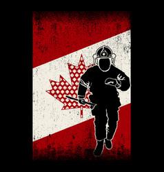 Fireman flag canadian vector