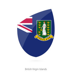 Flag british virgin islands vector