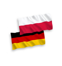Flags poland and germany on a white background vector