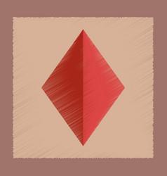 flat shading style icon diamonds suit vector image