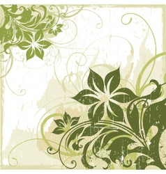 Floral edge frame design vector