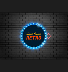 frame light retro circle vector image