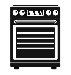 gas cooker icon simple style vector image