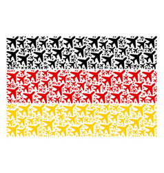 Germany flag pattern of air plane items vector