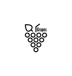 Grapevine leaves icon vector image