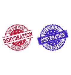 Grunge scratched drink more water dehydration seal vector