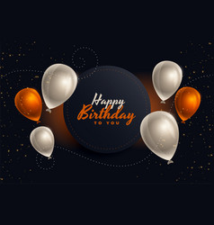 Happy birthday balloons card in nice colors vector
