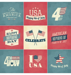 Independence Day Cards Set vector image