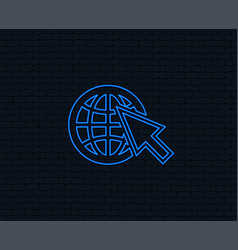 Internet sign icon world wide web symbol vector