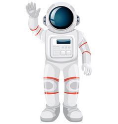 Isolated astronaut cartoon on white background vector