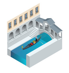 isometric traditional gondola gondola with vector image