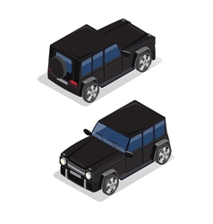 Isometric Transportation Offroad Car Isometric Car vector image