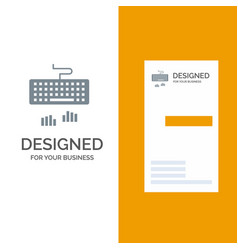 Keyboard interface type typing grey logo design vector