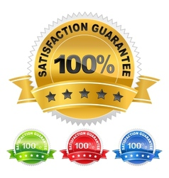 label satisfaction guarantee vector image