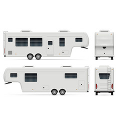 Large camping trailer view from vector