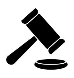 Law gavel icon vector