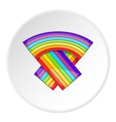 LGBT flag icon cartoon style vector image