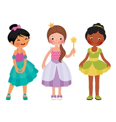 Little girl in princess costume vector image