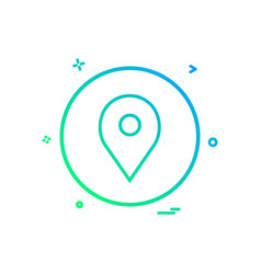 location basic icon design vector image